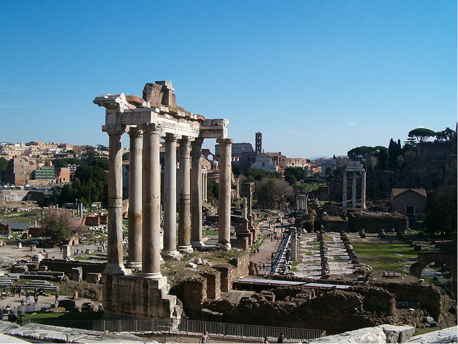 The Temple of Saturn in the Roman Forum