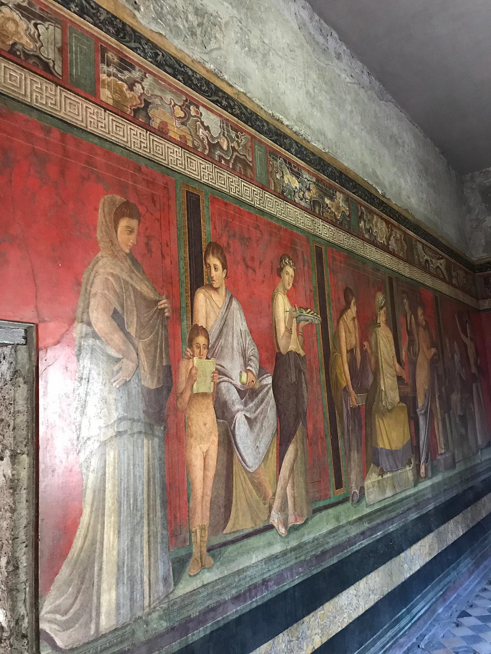 The frescoes of the Villa of the Mysteries