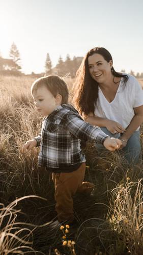 Cassandra Hogan and son