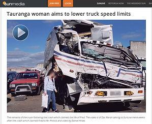 Sun Media image of truck wreckage