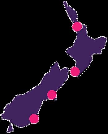 Stylised image of New Zealand