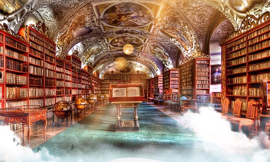 Artist impression of library in Sistine Chapel