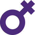 Purple women symbol