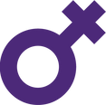 Purple women symbol
