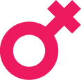 Pink womens symbol