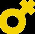 Yellow female symbol