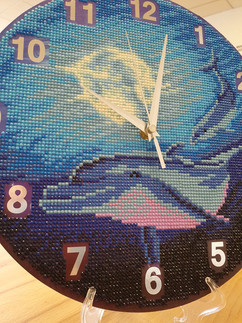 Diamond Painting Dolphin Clock