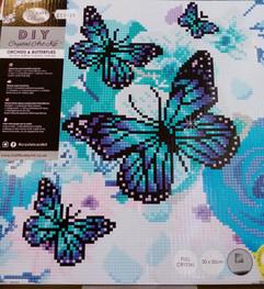 30cmx30cm Blue Butterflies