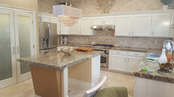 White Lacquer cabinetry with Pearls