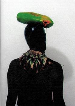 Equilíbrio de mamão sobre a cabeça