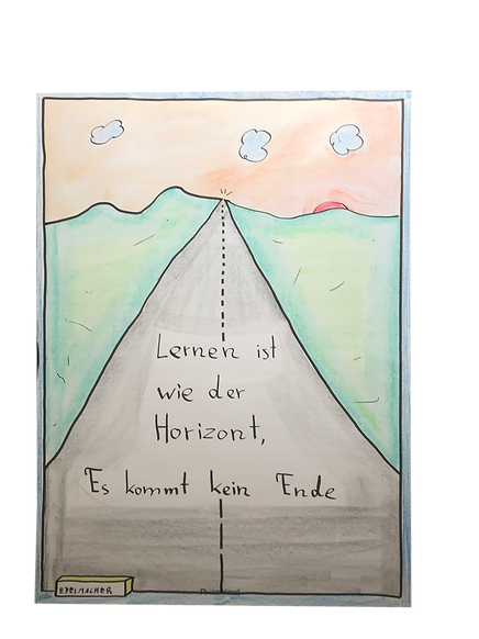 Lernen ist wie der Horizont
