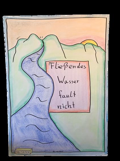 Fließendes Wasser fault nicht