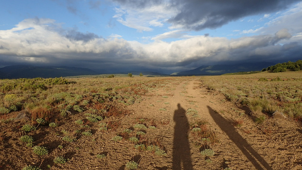 Greater Patagonian Trail: rain clouds south of Lonquimay