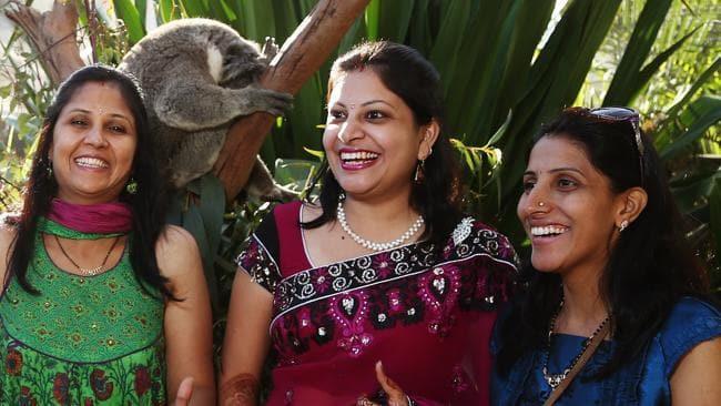 Indian Tourists with Koala