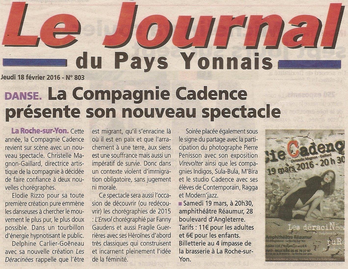 Journal Pays Yonnais Cie Cadence