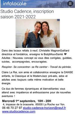 Studio Cadence La Rohe / Yon Vendée