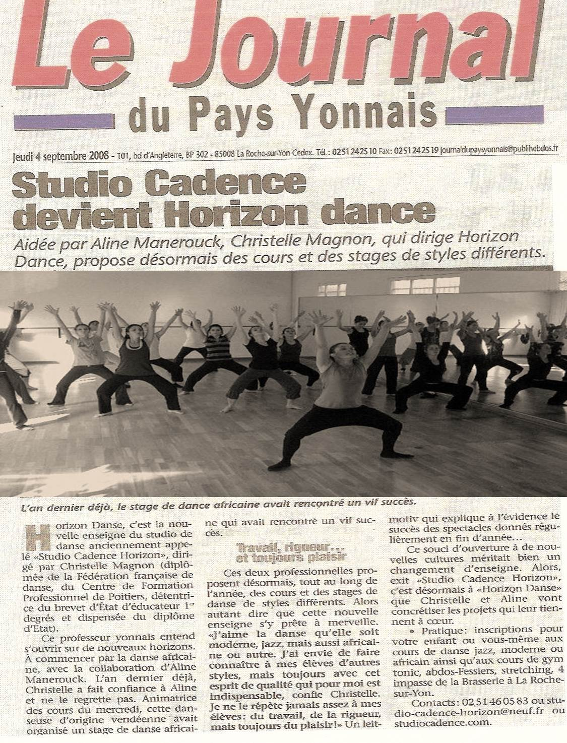 Journal Pays Yonnais Studio Cadence