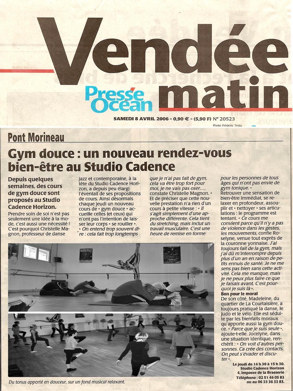 Vendée Matin Studio Cadence