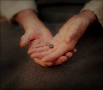God loves a cheerful giver, regardless of the size of the gift.