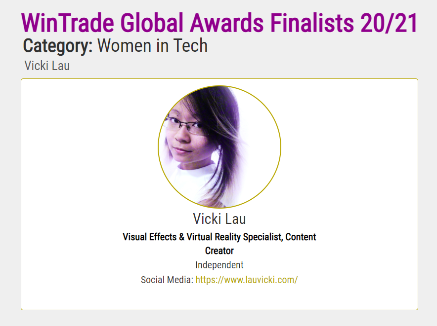 Global Finalist as a Woman in Tech