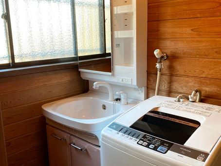 自慢のホーロー製 タカラ「オンディーヌ」 洗面化粧台リフォーム 日高市下鹿山