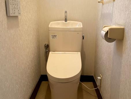 TOTO「ピュアレストQR+ウォシュレットS1A」を1階と2階にW設置! トイレリフォーム 日高市原宿