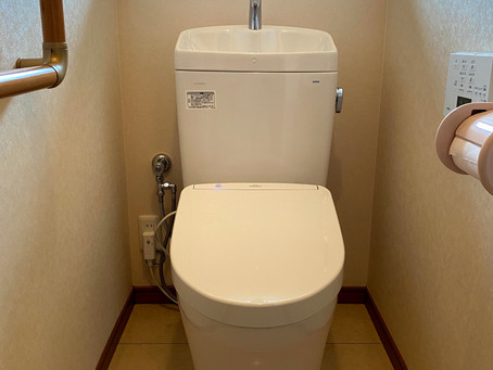 先進の快適トイレに一変! TOTO「ピュアレストQR+アプリコットF1A」 トイレリフォーム 日高市楡木
