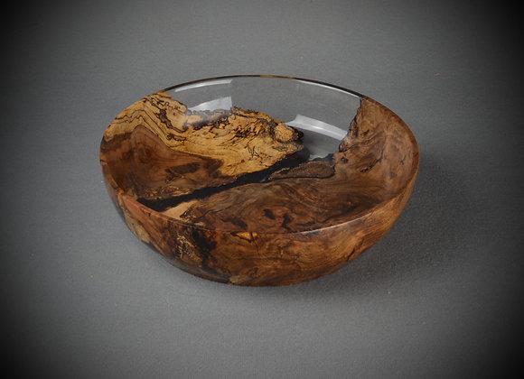 Oak Burl and Resin Bowl