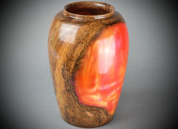 Resin and Oak Burl vessel