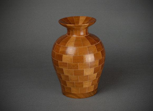Segmented Mahogany Vase