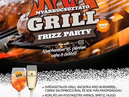 Nyárbúcsúztató Grill Frizz Party a Riso-ban!