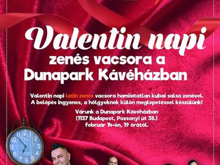 Valentin napi vacsora a Dunapark Kávéházban!
