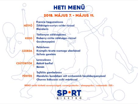 Sport Bisztró ezen a héten is sok finomsággal vár Titeket az ebédidőben!