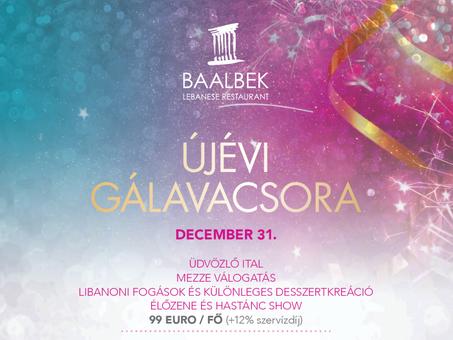 Újévi gálavacsora a Baalbek Libanoni étteremben