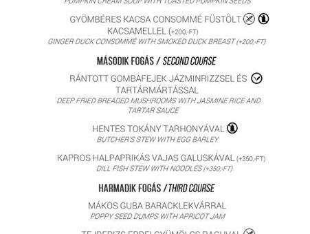 A KERT Bisztró ezen a héten is hétfőtől péntekig, 11.30 és 15.00 óra között vár Titeket az ebéd menü