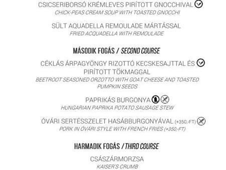 A KERT Bisztróban az ebéd mellé egy frissítő pohár limonádét is rendelhettek menüben