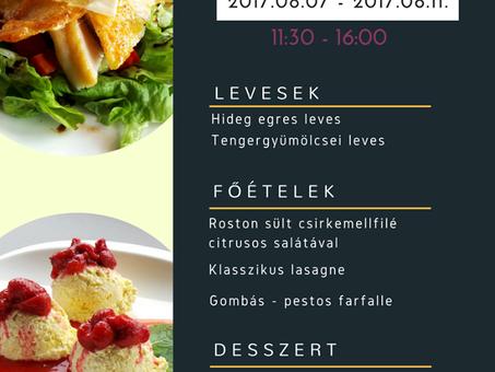 A Központ Bisztró ezen a héten is vár Titeket finom ebédmenüjével!