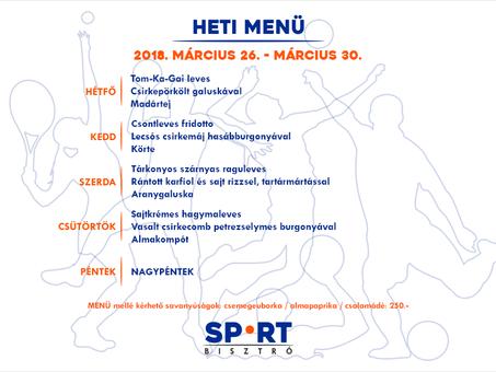 A Sport Bisztró ezen a héten is vár rátok!
