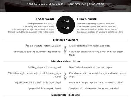 Igazi különlegességek a La perle noire étteremben