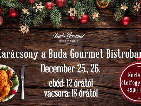 Ünnepelje családjával az idei karácsonyt a Buda Gourmet Bistroban!