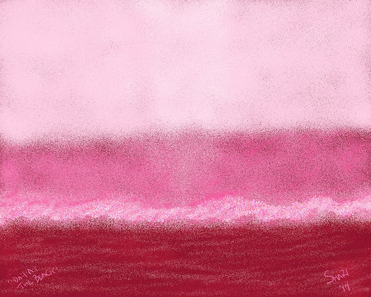 Day At The Beach by Shari P Kantor spkcreative.com digital art abstract landscape in pinks