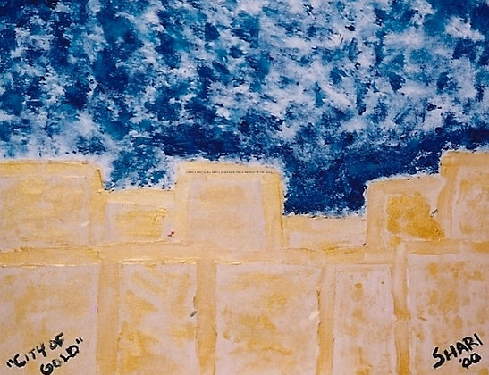 City of Gold by Shari P Kantor spkcreative.com abstract Jerusalem Israel landscape by Jewish artist