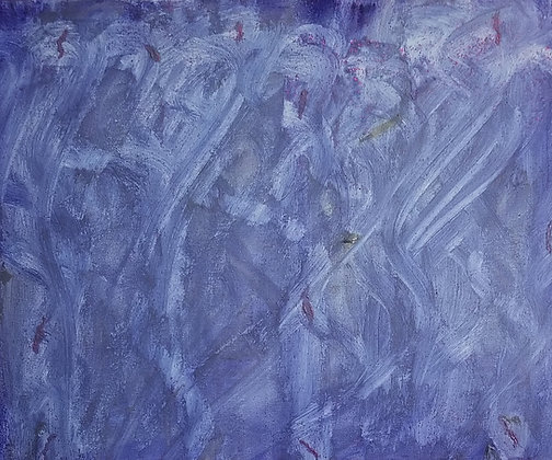 Inner Mermaid by Shari P Kantor is a calming abstract with YInMn blue and glitter