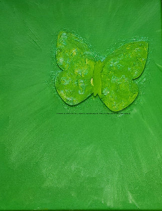 Be Optimistic by Shari P Kantor spkcreative.com green abstract butterfly