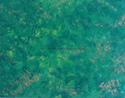 A Little Bit Dangerous by Shari P Kantor spkcreative.com green abstract art