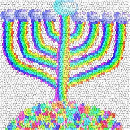 Hanukkah Fest by Shari P Kantor spkcreative.com digital art hanukkiah by a Jewish female artist