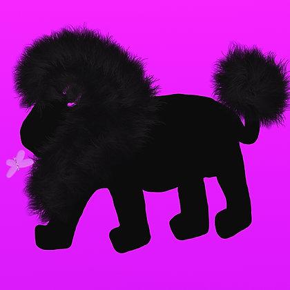 Throne by Shari P Kantor spkcreative.com black lion on purple background