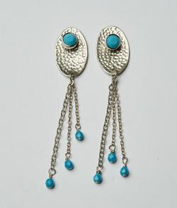 Swiss blue earrings