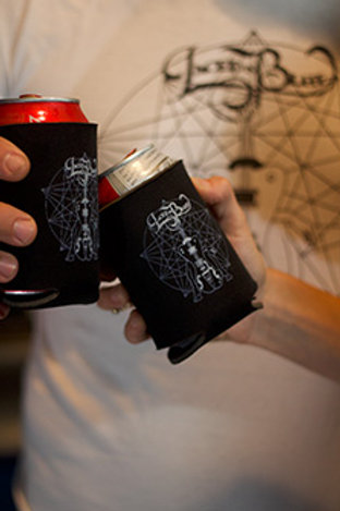 Laced in Blue Basic Koozies- 2 pack