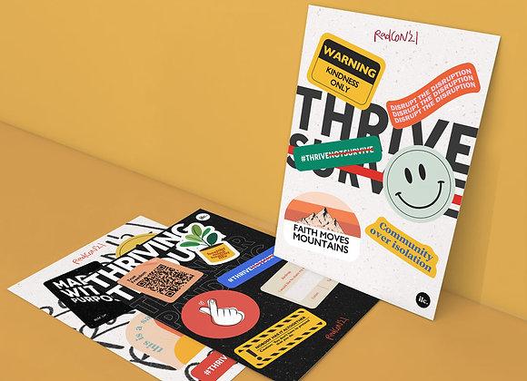 #ThriveNotSurvive Sticker Pack